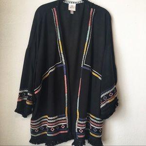 Knox Rose Embroidered Cardigan/Kimono